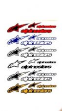 DECAL SHEET ALPINESTAR CORP